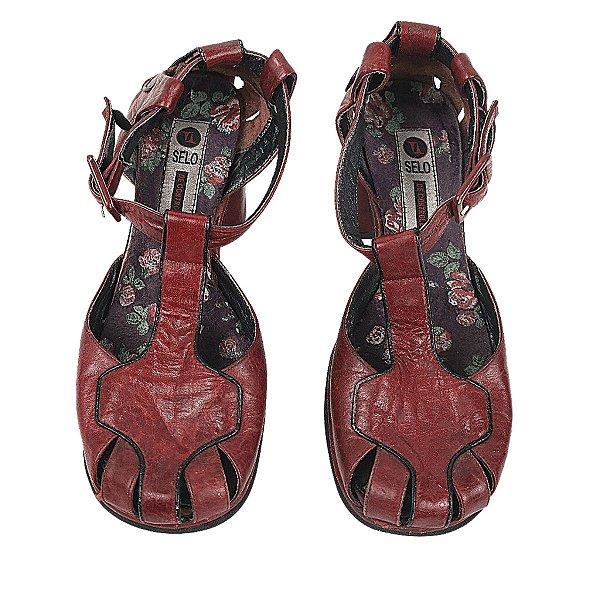 Sapato selo de controle vermelho 35