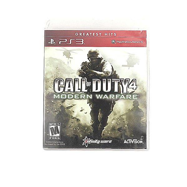 Jogo Call of Duty 4 Modern Warfare para PS3