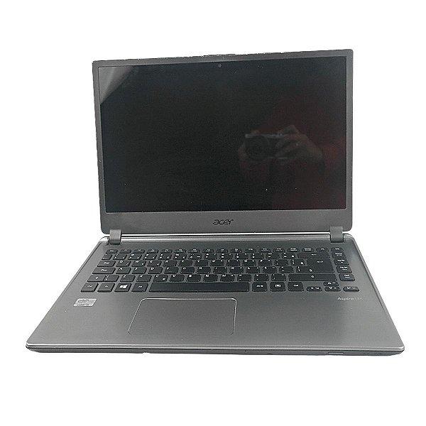 Notebook usado barato 4gb i5 Acer HD 500 Tela pouco escura