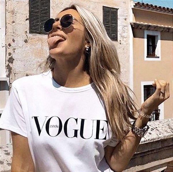 T-shirt branca Vogue