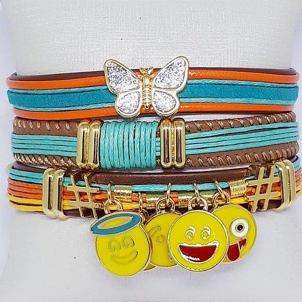 Conjunto de pulseiras infantil smile