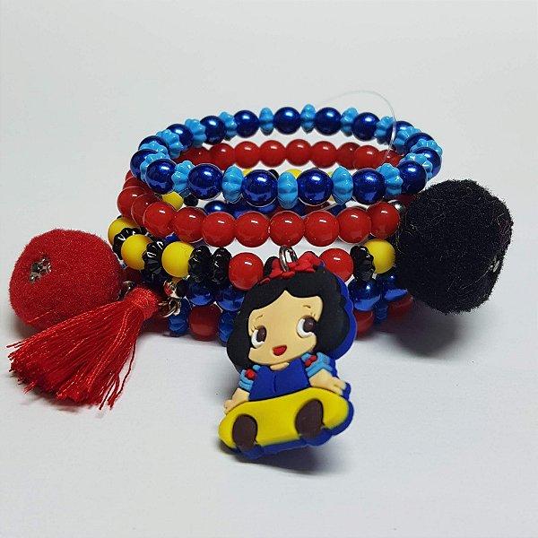 Conjunto de pulseiras de bolinhas princesas