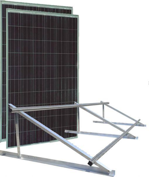 Kit 2 Paineis 150Wp + Estrutura SoloLaje