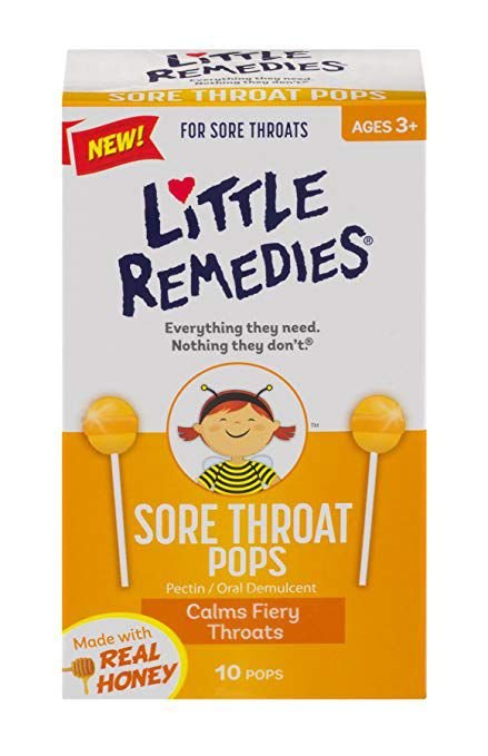 Little Remedies dor na garganta Pops