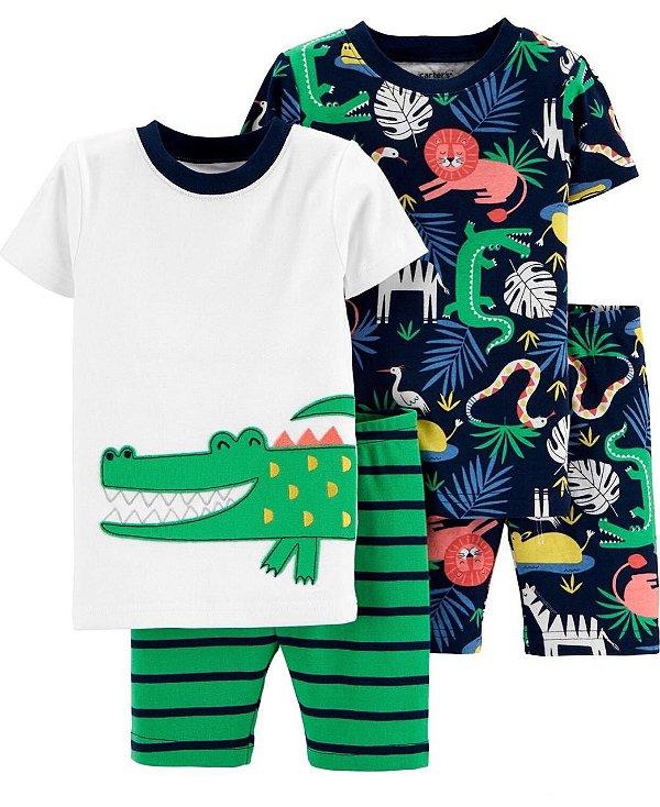Pijama Kit 4 Peças Crocodilo Masculino