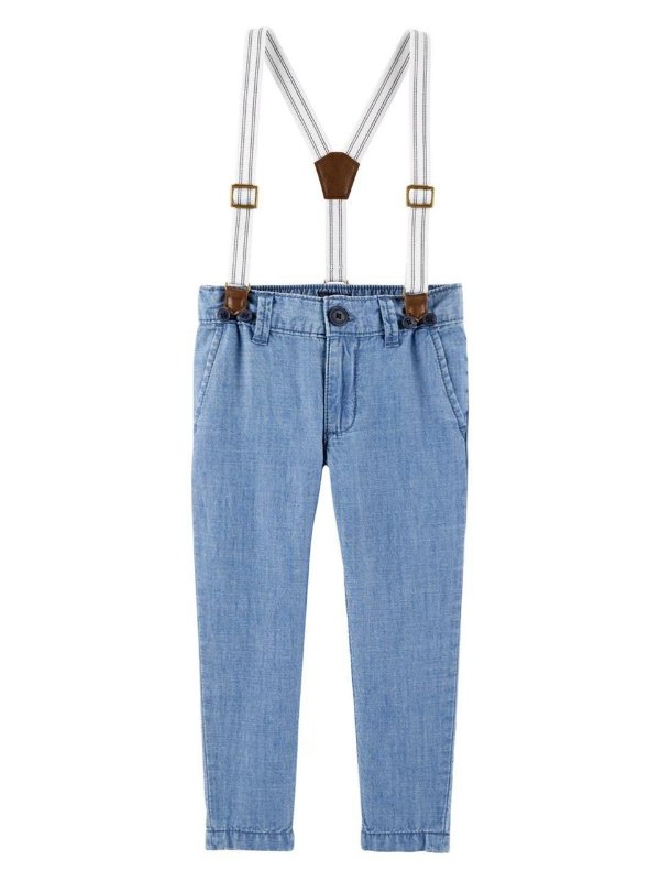 Calça Suspensório Oshkosh Azul Masculino