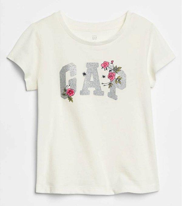 Camiseta GAP Manga Curta Flor