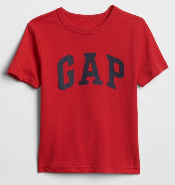 Camiseta GAP Manga Curta Masculina Vermelha