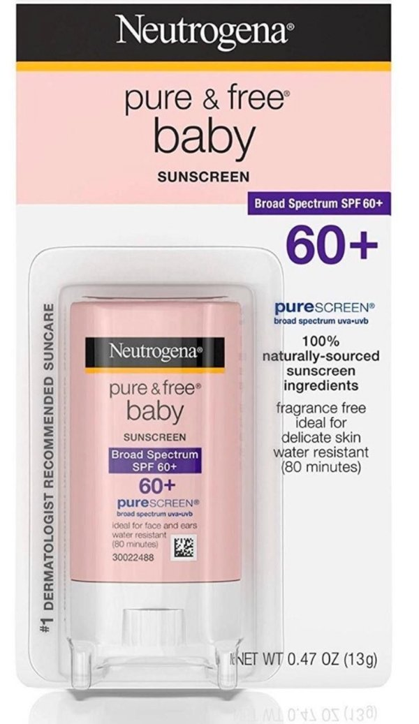 Protetor Solar Neutrogena Pure & Free Baby Bastão 60+