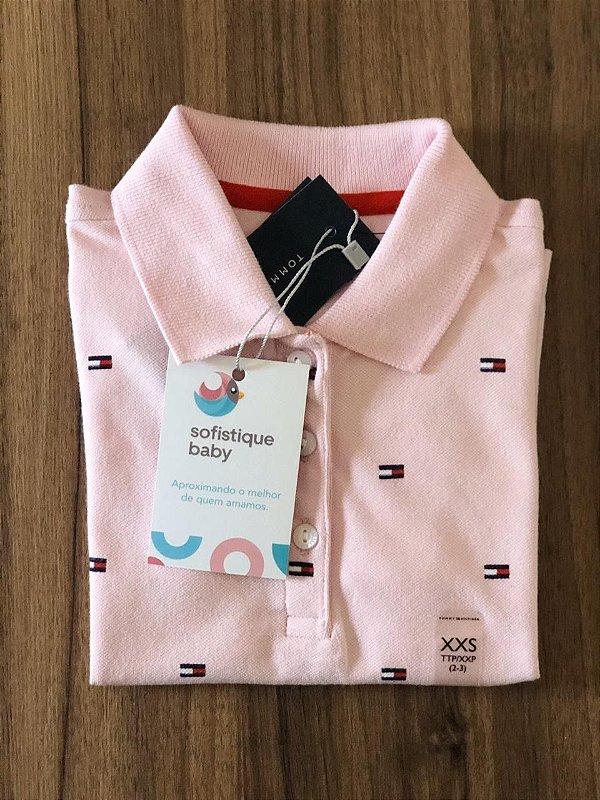 Camiseta Gola Polo Tommy Hilfiger Rosa Feminino