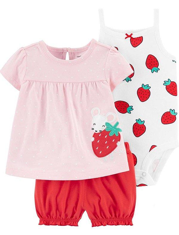 Trio 3 Peças Strawberry Feminino