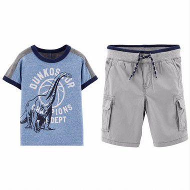 Conjunto Camiseta Azul e Bermuda Masculino