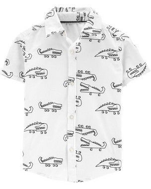 Camisa Crocodilo Branca