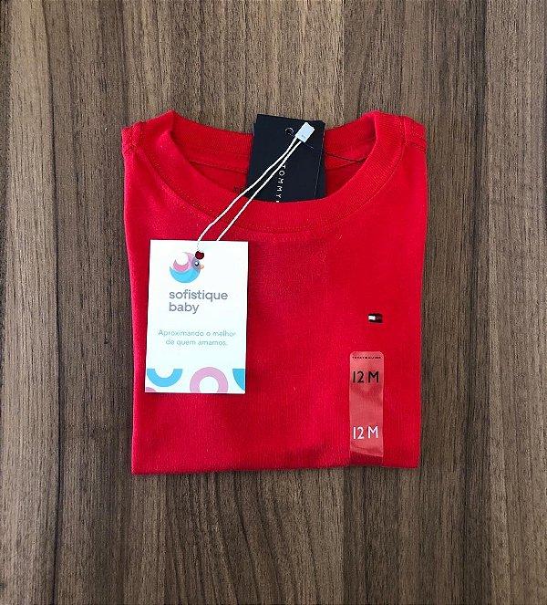 Camiseta Básica Tommy Hilfiger Vermelha