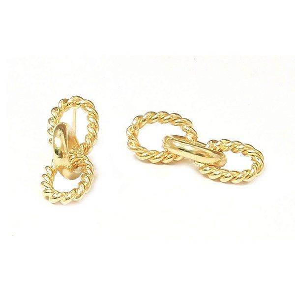 Brinco Rope Dourado