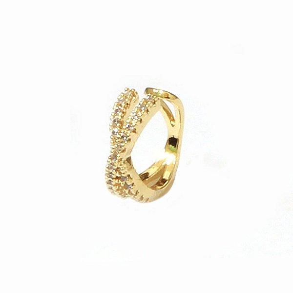 Piercing de Orelha Divine Dourado