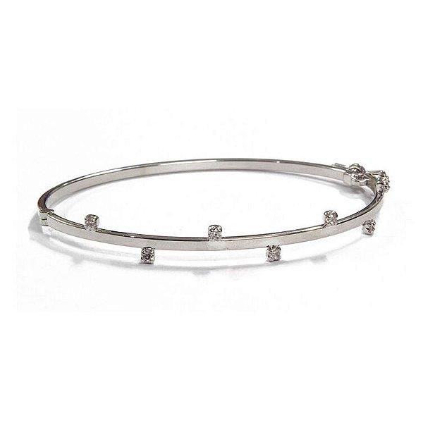 Bracelete Nevada Ródio Branco