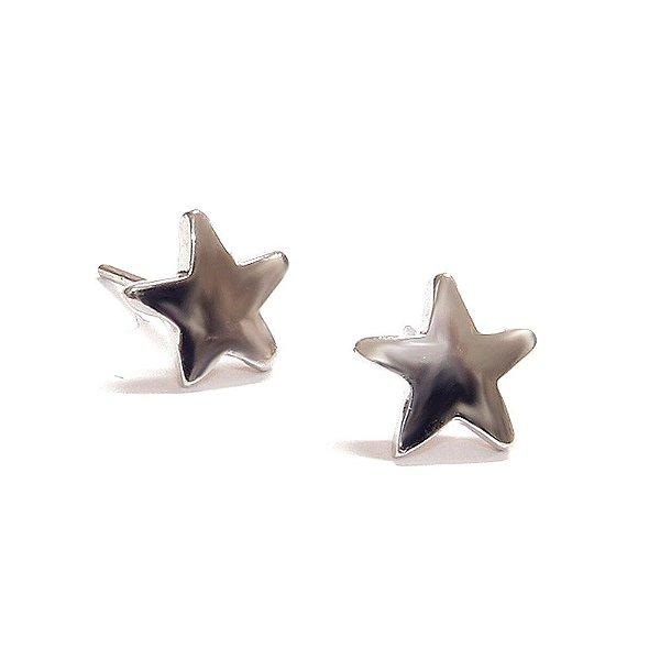 Brinco Mini Star Ródio Branco