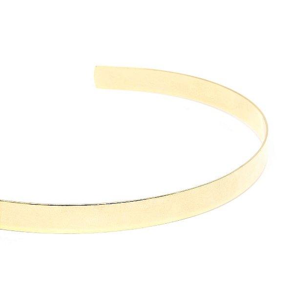 Colar Choker Flat Dourado