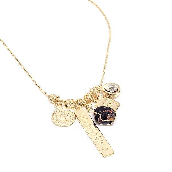 Colar Patuá Gratidão Jaspe Amuleto