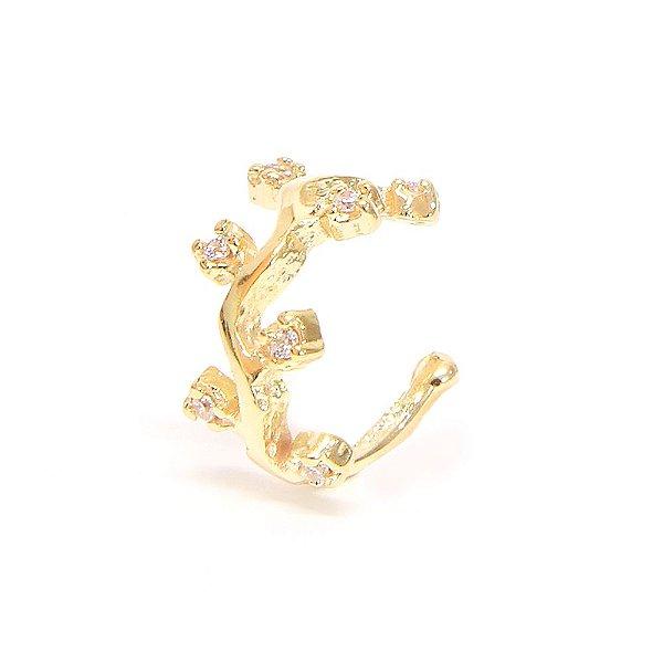 Piercing de Orelha Flowes Dourado