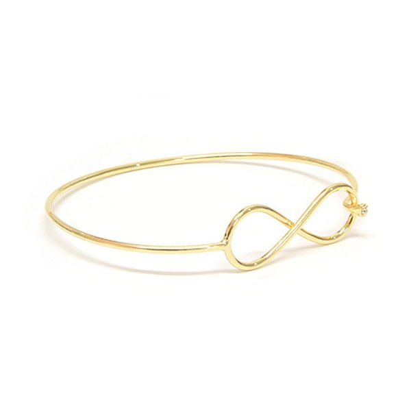Bracelete Infinity Dourado