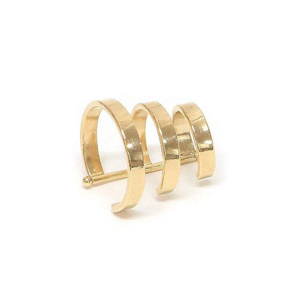 Piercing de Orelha Triple Dourado