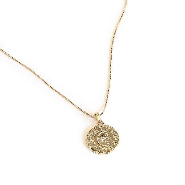 Colar Astrology Dourado