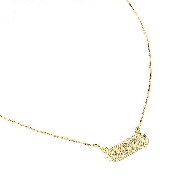 Colar Love Dourado