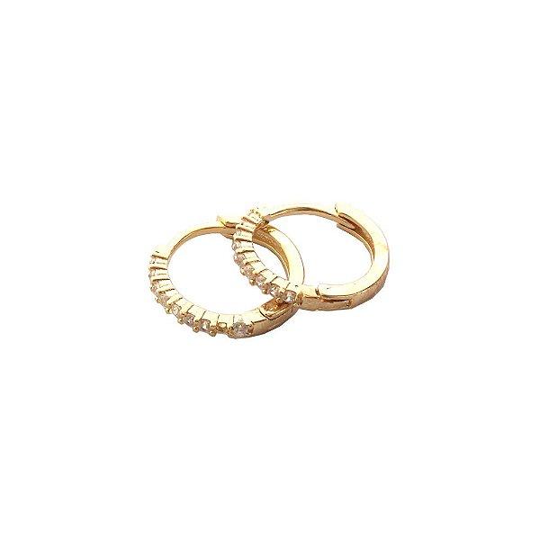 Brinco Argola Circle P Dourado