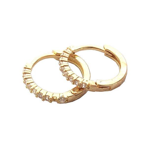 Brinco Argola Circle G Dourado