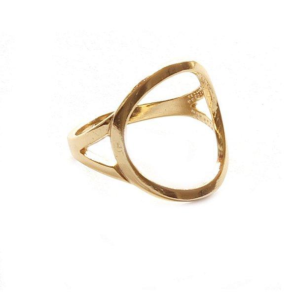 Anel Basic Círculo Dourado