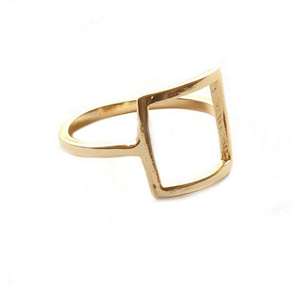 Anel Basic Quadrado Dourado