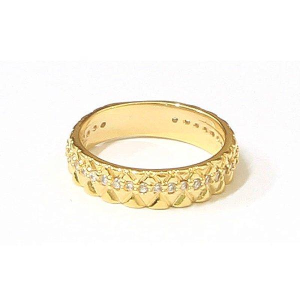 Anel Glam Dourado