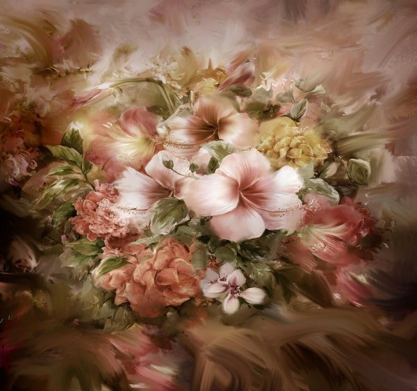 18 - Flores m PINTURA ROSE2 160X150