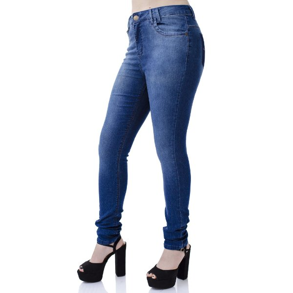 Calça Jeans Feminina Skinny Perfect Fit Cós Alto Ref. 4720