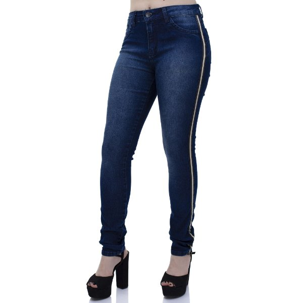 Calça Jeans Feminina Skinny Cós Médio Ref. 4710