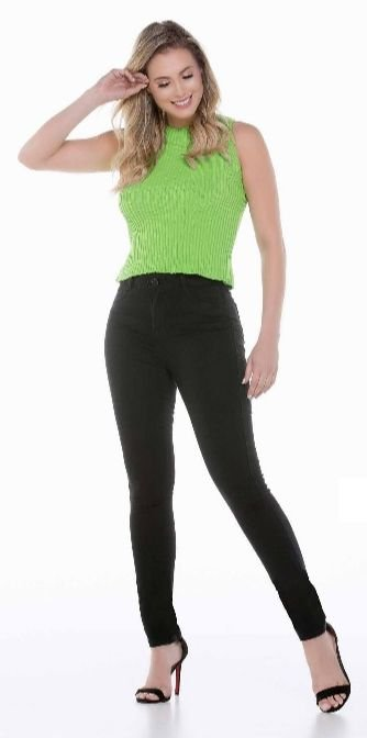 Calça Jeans Feminina Skinny Cós Alto Ref. 4888