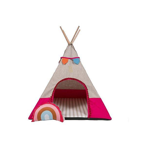 Cabana para Cachorro Apache SWEET LINHO/SARJA  ROSA  Woof