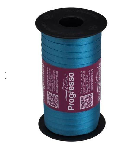 Rolo Fita De Cetim Nº1 07mm Progresso 100m Azul Turquesa