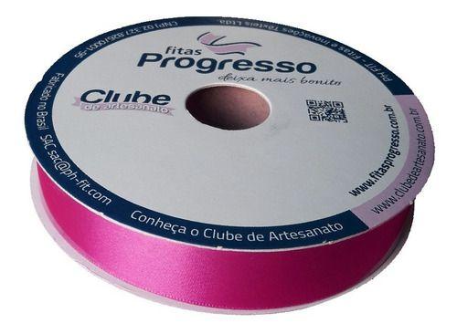 Rolo Fita De Cetim Nº5  22mm Progresso 50mts Pink