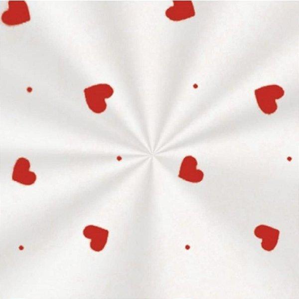100 Saquinhos celofane Transparente Love Vermelho 10cm x 14cm