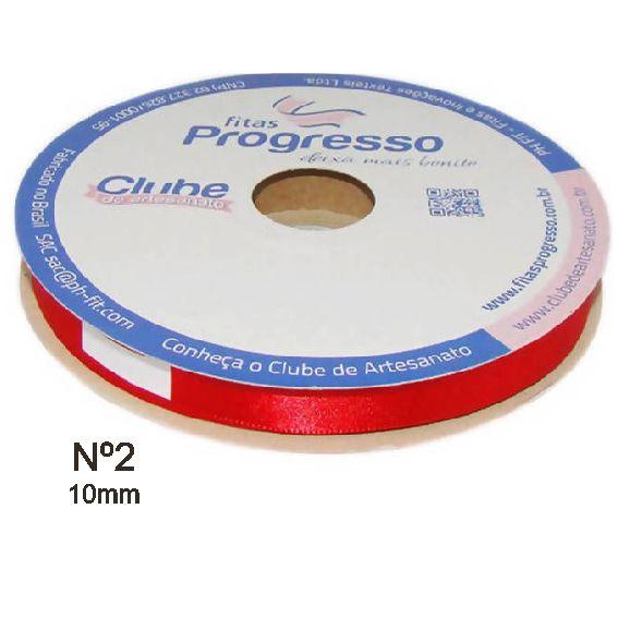 ROLO FITA DE CETIM Nº 2  - 10 mm  50 METROS PROGRESSO