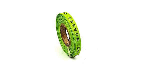 Fitinha do Bonfim 1 rolo com 100 fitas - cor 10-Verde limão