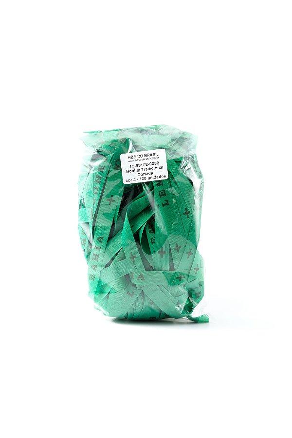 Fitinha do Bonfim 100 fitas cortadas - cor 4-Verde bandeira