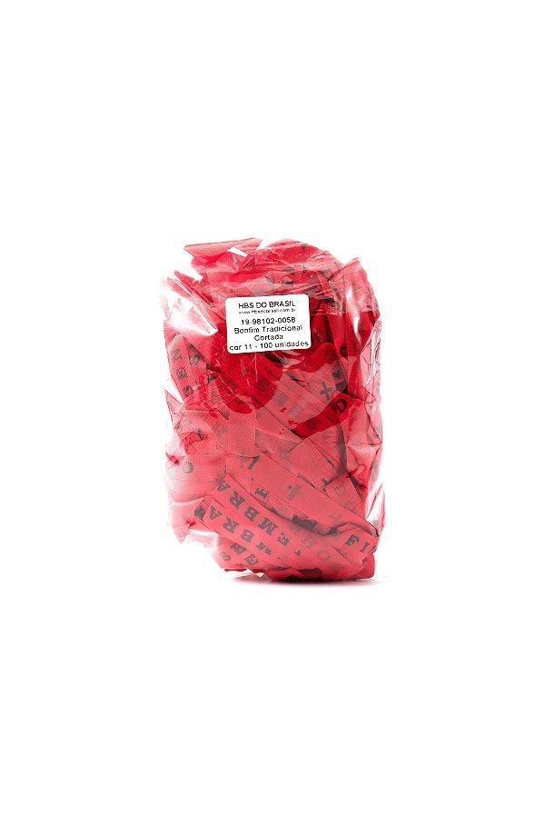 Fitinha do Bonfim 100 fitas cortadas - cor 11-Vermelho