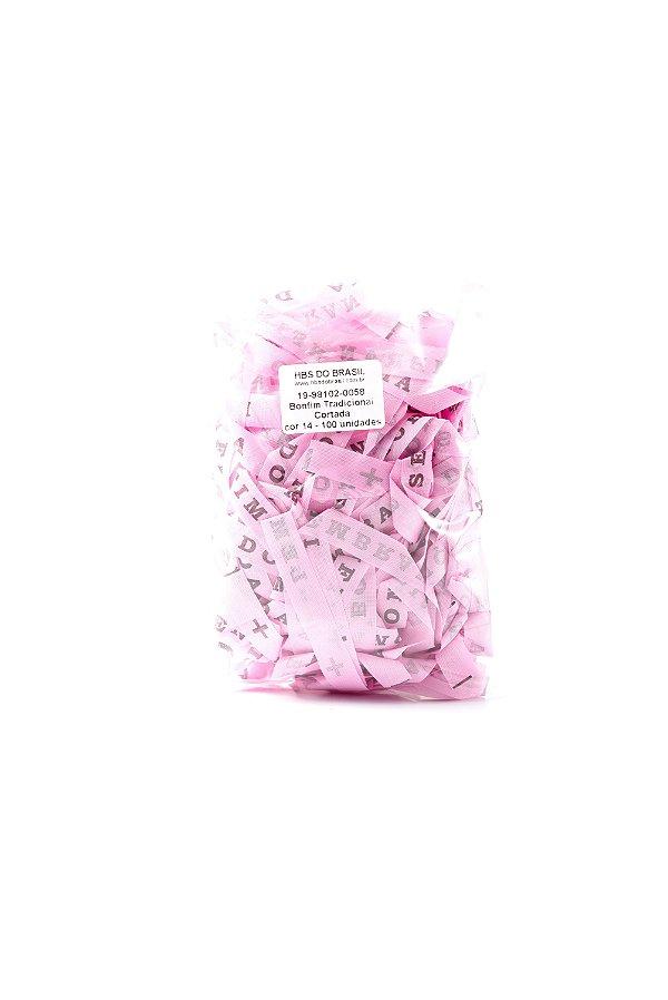 Fitinha do Bonfim 100 fitas cortadas - cor 14-Rosa claro