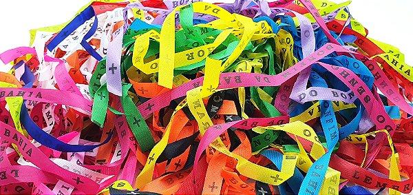 Fitinha do Bonfim 150 fitas cortadas - 15 cores - 10 fitas cada cor