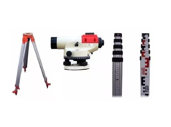 Nível Óptico Kolida Kl-28 + Tripe + Mira 5m - Topografia