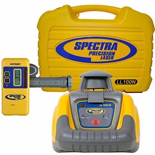 Nível Laser Rotativo Spectra Precision LL100N c/ Receptor HR320